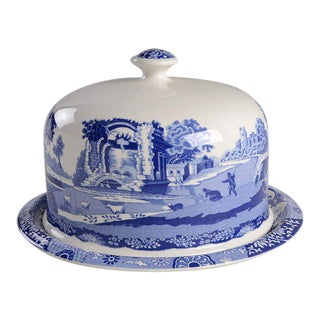 Spode Italian Blue Cheese/Cake Dome For Sale