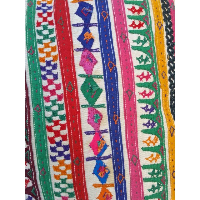 Boho Chic Rajasthani Embroidered Camel Sack Pillow For Sale - Image 3 of 6