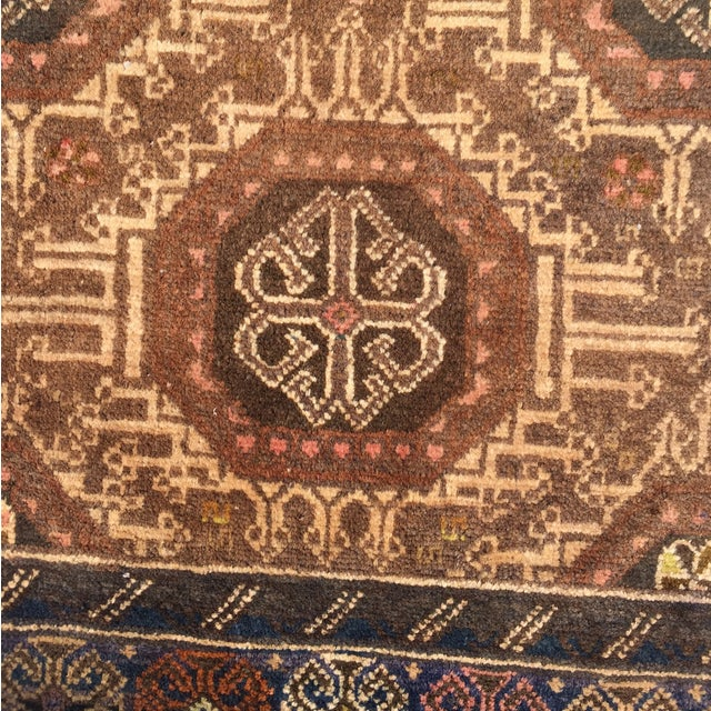 "Vintage Baluchi Persian Rug - 2'10"" x 4'1"" - Image 5 of 11"