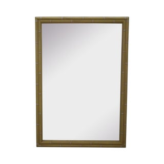 Hollywood Regency Faux Bamboo Painted Frame Mirror For Sale