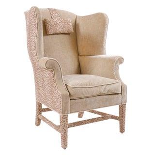 George III Wingback Armchair For Sale