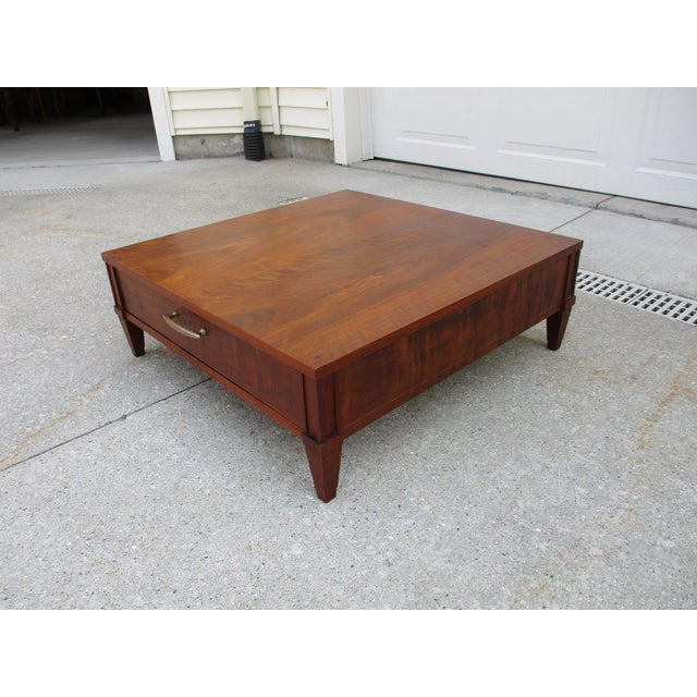 Late 20th Century Baker Milling Road Walnut Low Side or Display Table For Sale - Image 5 of 12