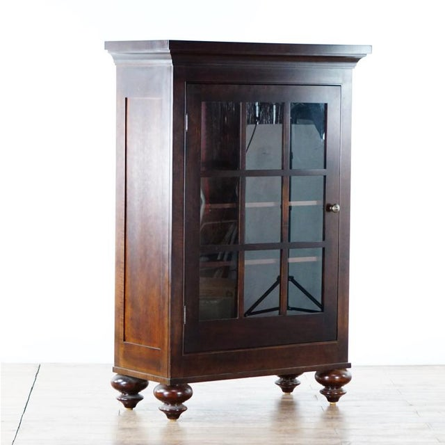 Restoration Hardware solid dark wood cabinet. Removable legs. Brand is Restoration Hardware. Dimensions (in): 40.0 W x...