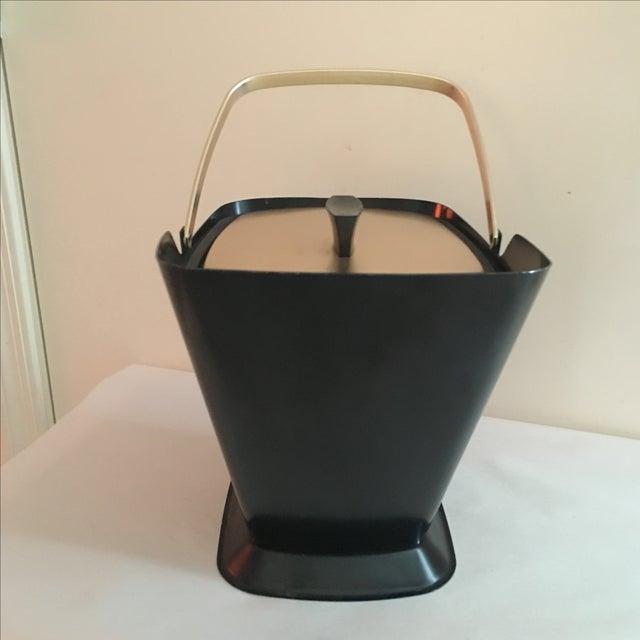 West Bend Retro Black & Gold Ice Bucket - Image 4 of 9