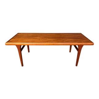 1960s Mid Century Danish Modern Johannes Andersen Solid Teak Coffee Table For Sale