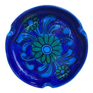 Vintage Rimini Blue Italian Cigar Ashtray For Sale