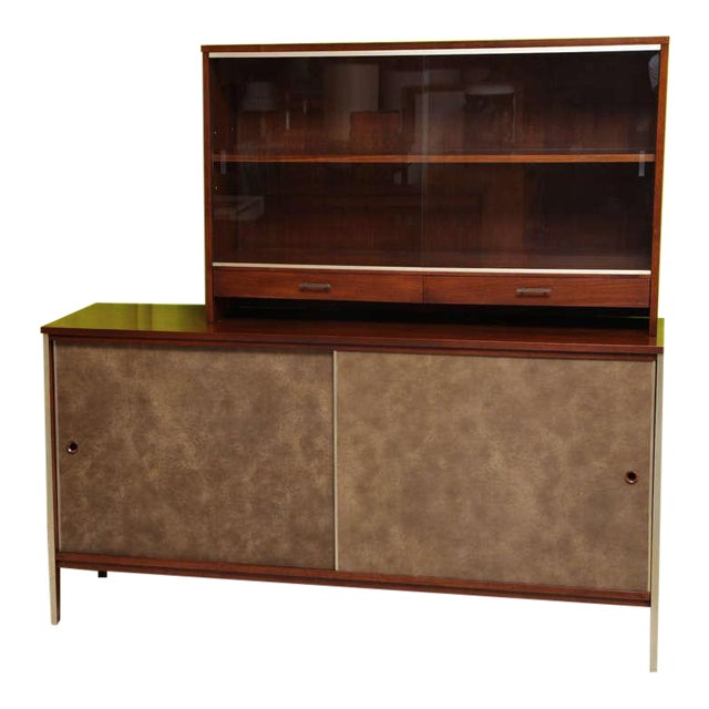 Paul McCobb Calvin Walnut Buffet with Top Cabinet - Image 1 of 8