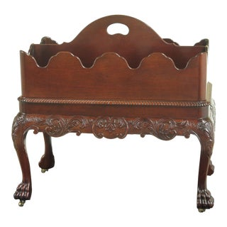 Baker Stately Homes Irish Baroque Mahogany Magazine Rack