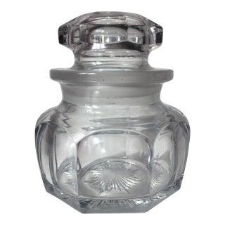 Antique Heisey Crystal Lidded Jar For Sale
