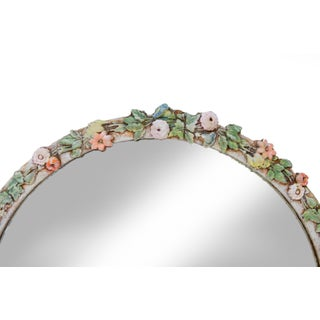 Round Mirror With Flowers Preview