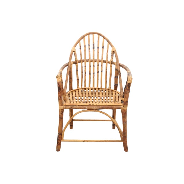 Windsor Style Bamboo Side Chair - Image 1 of 6