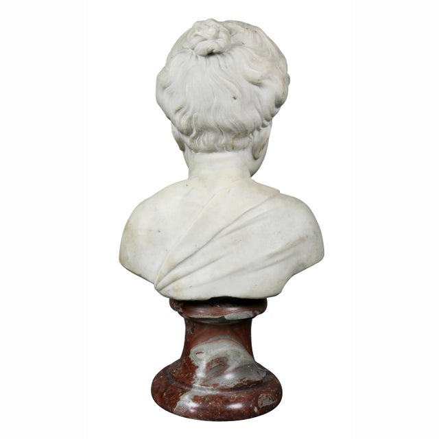 Louis XVI Marble Bust of a Young Boy For Sale In Boston - Image 6 of 7