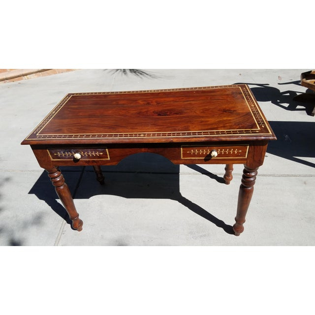 Antique Cherry Wood Writing Desk - Image 2 of 8 - Antique Cherry Wood Writing Desk Chairish