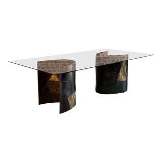 Paul Evans Dining Table Model PE24 Signed and Dated Directional USA, 1969 For Sale