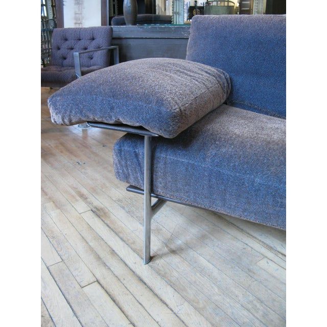 B&B Italia 1990s Vintage Antonio Citterio for B&b Italia Velvet Diesis Sofa For Sale - Image 4 of 8
