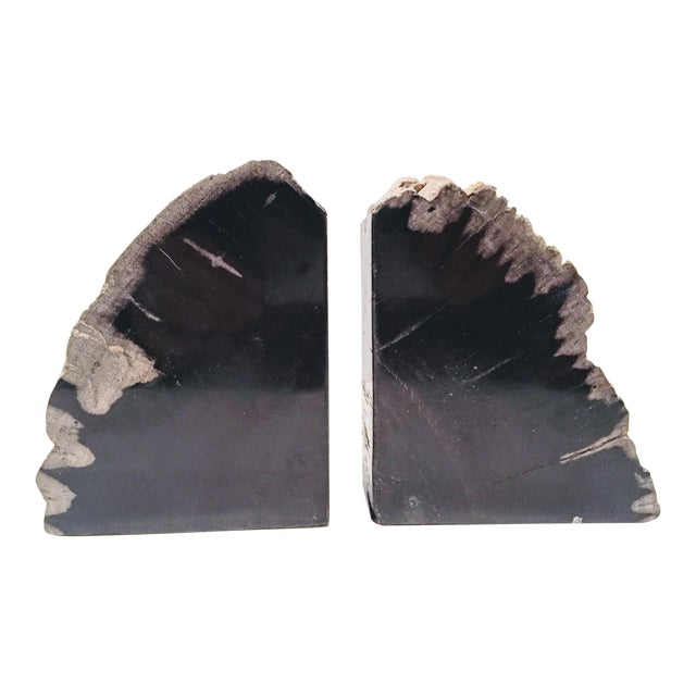 Pair of Petrified Wood Bookends - Image 2 of 13