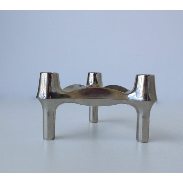 Mid-Cenutry Fritz Nagel & Ceasar Stoffi Chrome-Plated Modular Candleholders - S/4 For Sale - Image 10 of 11