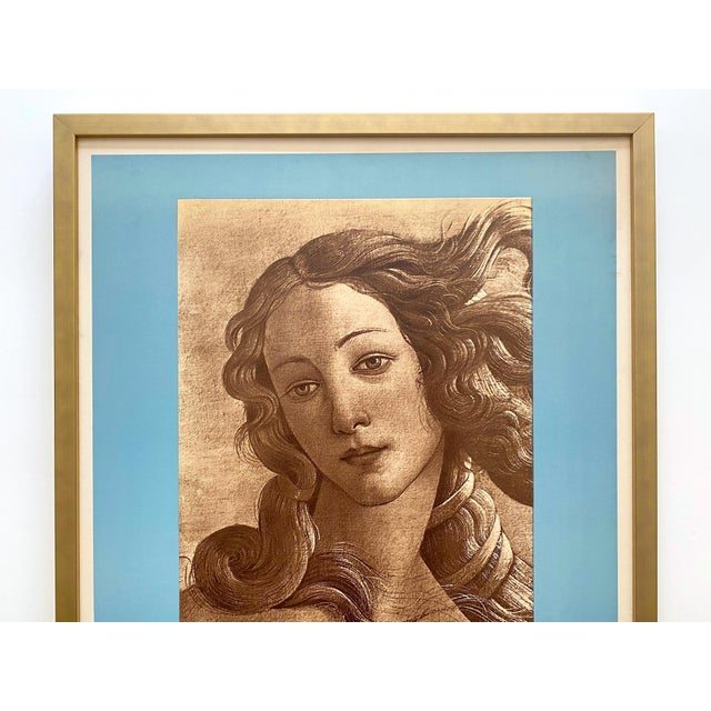 "This very rare vintage 1935 Mourlot lithograph print Art Deco custom framed French exhibition poster Sandro Botticelli ""..."