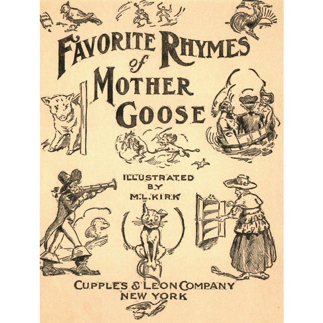 """Favorite Rhymes of Mother Goose"" 1923 Book - Image 2 of 5"
