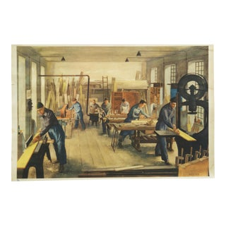 Joinery School Poster, 1960s For Sale