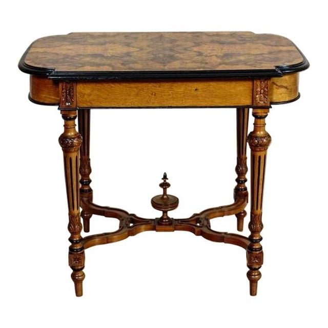19th Century Eclectic Walnut Small Table For Sale - Image 11 of 11