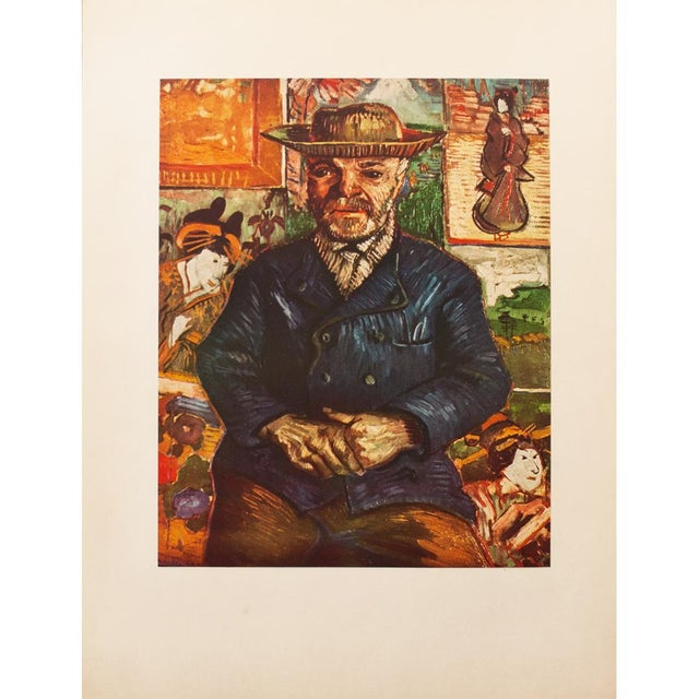"Blue 1950s Vincent Van Gogh, ""Pere Tanguy"" First Edition Vintage Lithograph Print For Sale - Image 8 of 8"