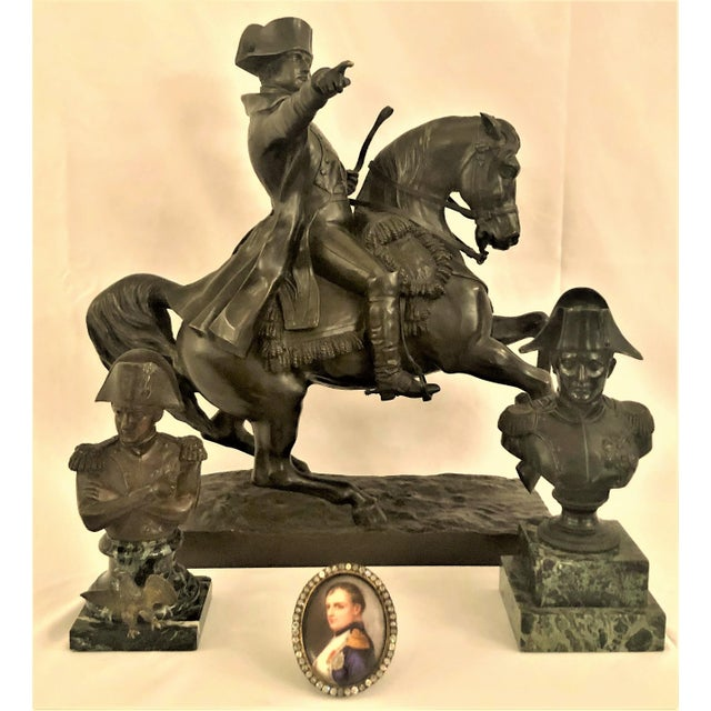 Late 19th Century Antique 19th Century French Bronze Statue of Napoleon on Horseback Signed by Noted Sculptor, Alexandre Falguiere (1831-1900). For Sale - Image 5 of 6