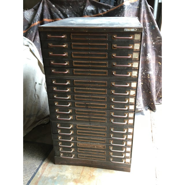 Industrial Steel Flat File Cabinet For Sale - Image 11 of 11