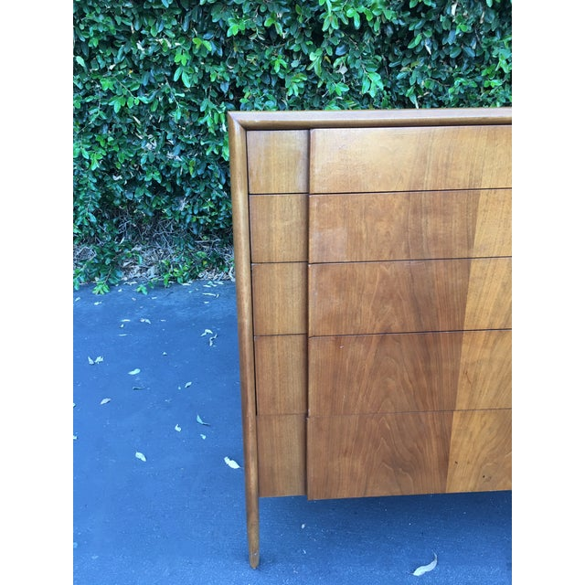 1960s Mid Century Modern High Boy Dresser Chest of Drawers Parallel Collection by Barney Flagg for Drexel For Sale - Image 5 of 12