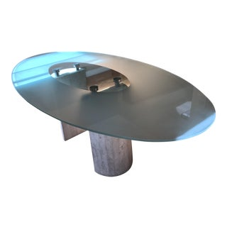 Glass & Marble Italian Dining Table