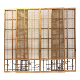Japanese Sugi Cedar Yoshido Doors - Set of 4 For Sale
