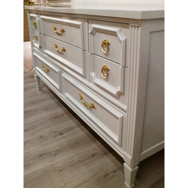 Vintage Grey Custom Lacquered Chest - Image 6 of 7