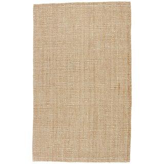 Jaipur Living Mayen Natural Solid Tan/ White Area Rug - 8′ × 10′