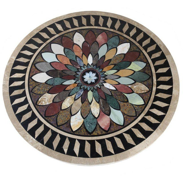 Art Deco Cast Iron Base Table With Pietra Dura Specimen Top For Sale - Image 4 of 12