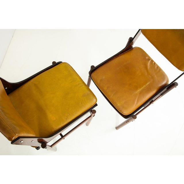Jacaranda and Leather Dining Chairs From Brazil - Set of 4 For Sale - Image 10 of 13