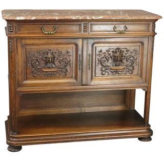 Server Sideboard Antique 1890 French Renaissance For Sale