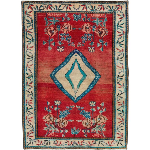 "Vintage Persian Mahal Rug - Size: 3' 8"" X 5' 1"" For Sale - Image 10 of 10"