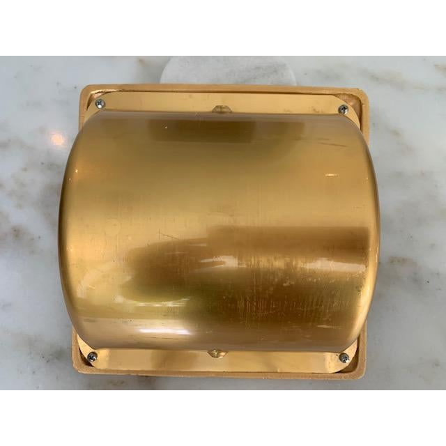 Sherle Wagner Sherle Wagner Gold Plate Recessed Toilet Paper Holder For Sale - Image 4 of 7