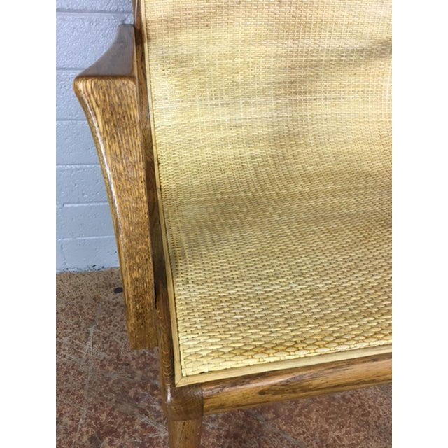 Oak Cane Sling Side Chair - Image 8 of 8