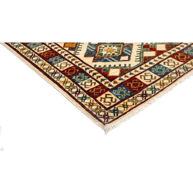 "New Tribal Traditional Hand Knotted Area Rug - 3'10"" x 5'10"" - Image 2 of 3"