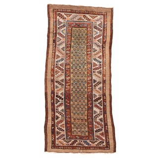 """19th Century Antique Bakshayesh Tribal Persian Runner-3'8'x8'3"""" For Sale"""