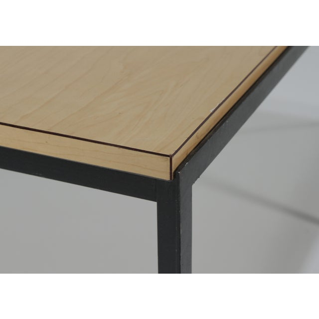 1950s Mid-Century Modern Florence Knoll T Angle Table With a Birch Laminate Top For Sale - Image 10 of 13