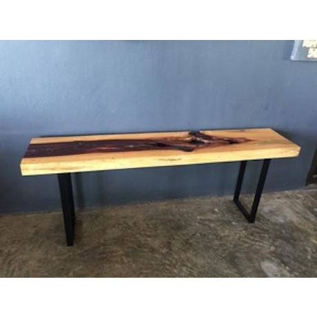 Contemporary Tamarind Slab Console Table For Sale - Image 3 of 4
