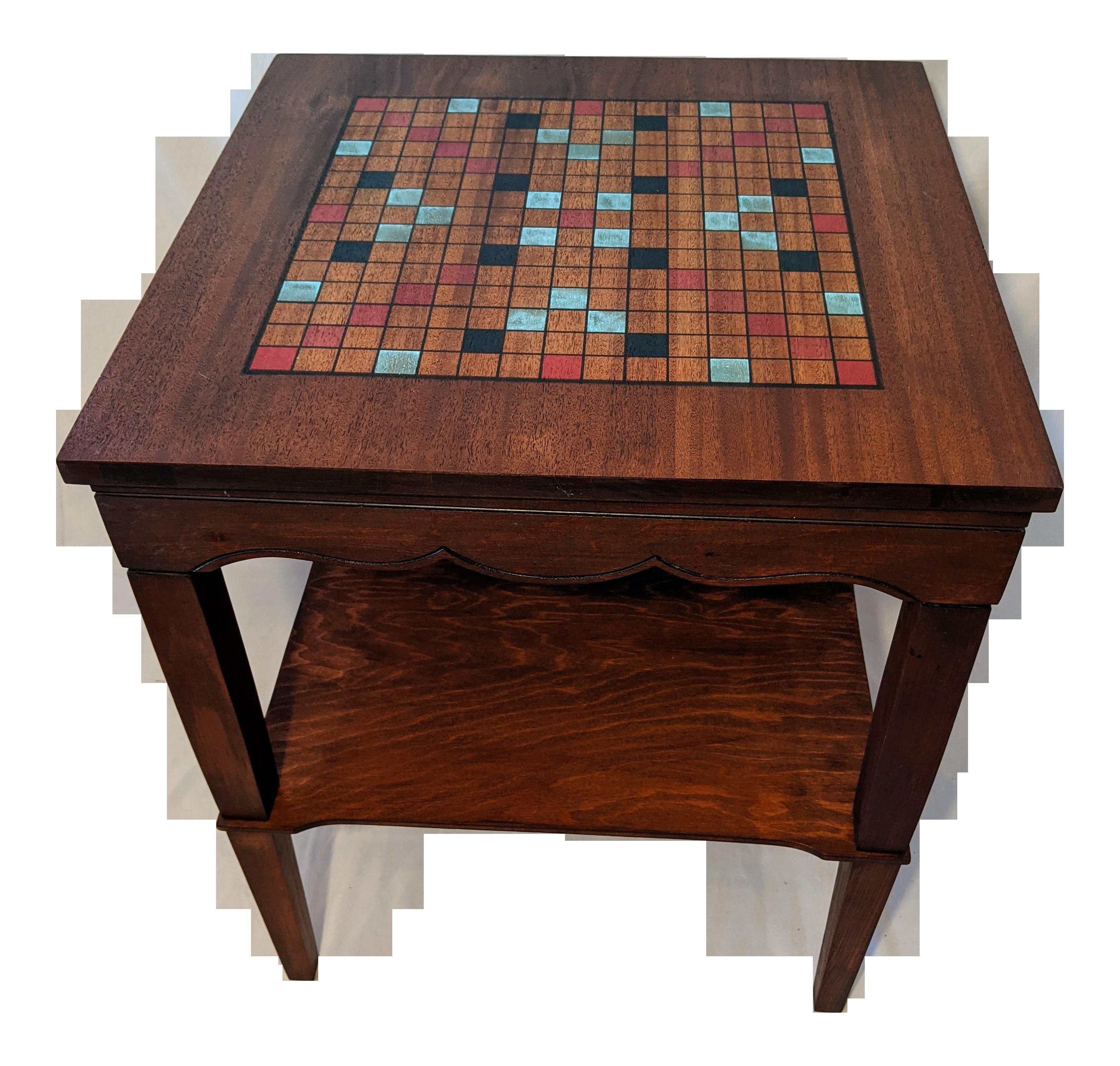 Vintage Handmade Wooden Spinning Board Game