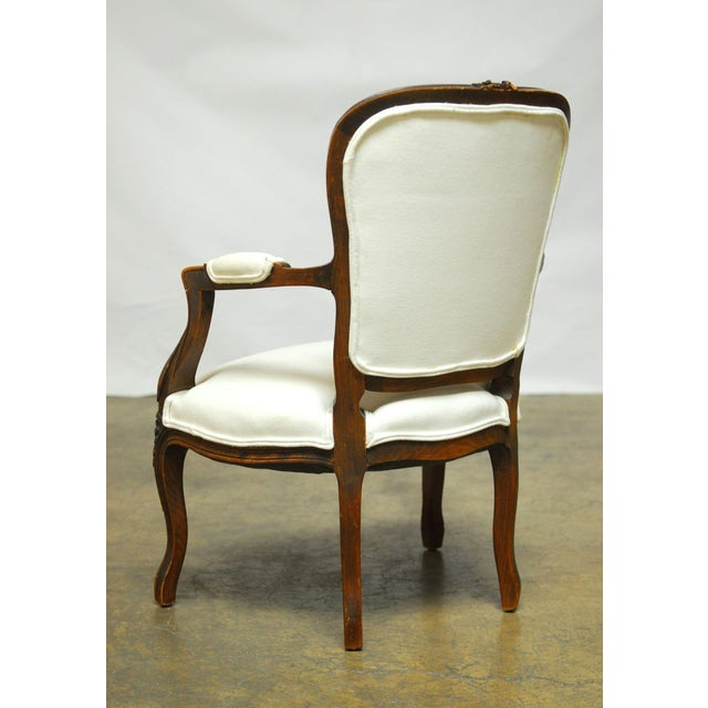 Antique French Louis XV Carved Fauteuil Armchair - Image 5 of 7