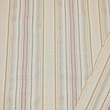 Image of Transitional Schumacher Wellington Stripe Designer Fabric by the Yard For Sale