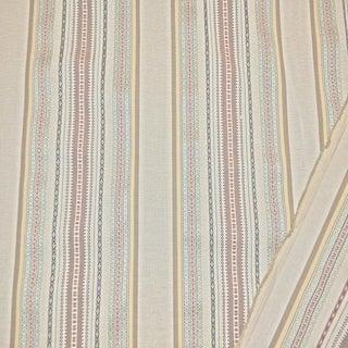 Transitional Schumacher Wellington Stripe Designer Fabric by the Yard For Sale