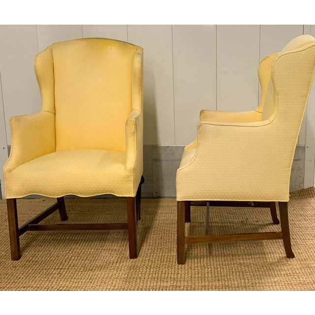 Mid-Century Modern Pair, Vintage Wingback Chairs For Sale - Image 3 of 9