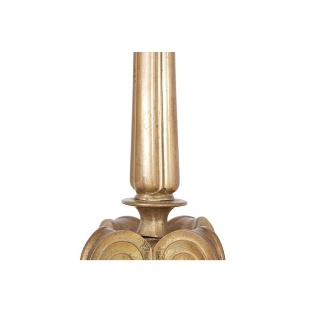 Brass Hollywood Regency Style Candelabra Table Lamps in Brass For Sale - Image 7 of 9