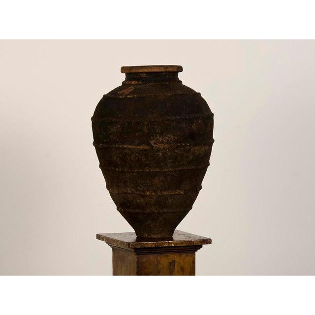 Late 19th Century 19th Century Italian Raised Decoration Terra Cotta Urn For Sale - Image 5 of 8